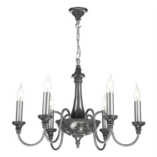 Bailey 6 Light Pendant Pewter BAI0667 (7-10 day Delivery)